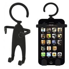 Soporte universal flexible de silicona para móvil negro