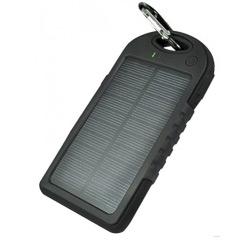 Cargador solar 500 mAh con linterna y mosquetón - Ítem