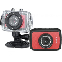 Videocámara deportiva HD color roja
