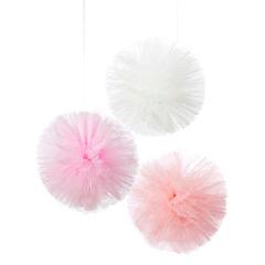 Pompones de tull rosa, 3 u