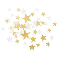 Confeti papel foto estrellas blancas y oro