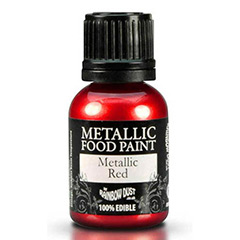 Pintura comestible para repostería roja metalizada Rainbow Dust
