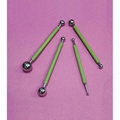 Set 4 herramientas moldeado para tartas metálicas