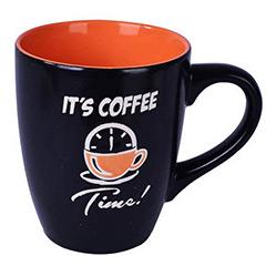 Taza cerámica bicolor coffe time