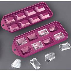 Molde silicona figuras diamantes 8 cavidades