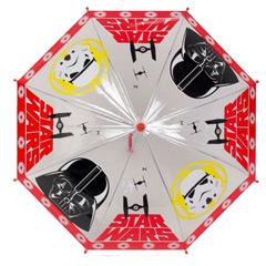 Paraguas infantil Star Wars transparente rojo