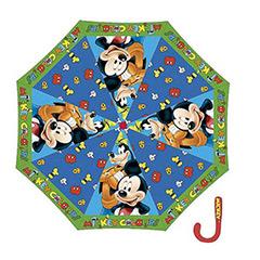 Paraguas infantil Mickey Mouse y Pluto de tela