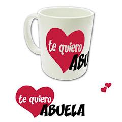 Taza cerámica con texto te quiero Abuela