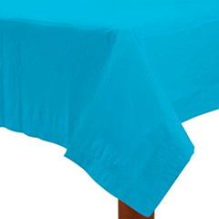 Mantel liso turquesa 274 x 137 cm impermeable, Pack 1 u.