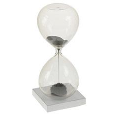Reloj de arena morada imantada