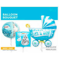 Globos Baby Shower niña, Pack 3 u