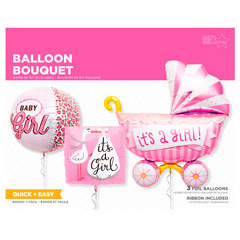 Globos Baby Shower niño, Pack 3 u