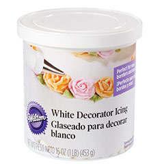 Glaseado para Decorar Blanco Wilton, bote 450 gr