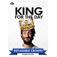 Corona Rey por un día inflable