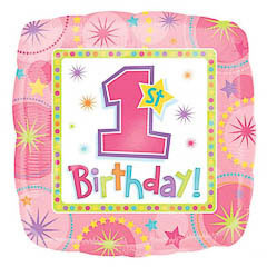 Globo primer cumpleaños niña