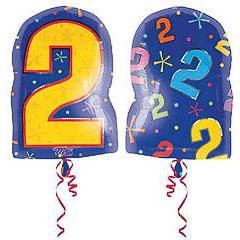 Globo Nº 2 con forma número