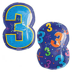 Globo Nº 3 con forma número