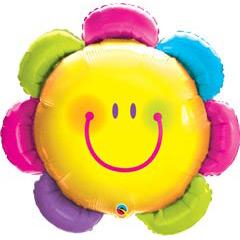 Globo flor carita feliz