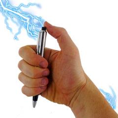Bolígrafo electricidad, broma