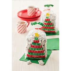 Bolsas Árbol Navidad frases para golosinas y galletas Wilton, Pack 20 u. - Ítem