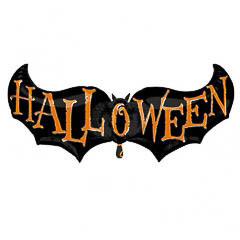 Globo forma murciélago Halloween