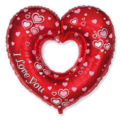 Globo corazón rojo figura