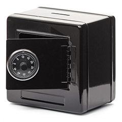 Hucha caja fuerte negra