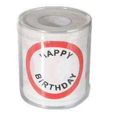 Papel WC Happy Birthday