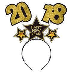 Diadema antenas Happy New Year 2018