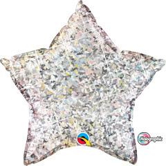 Globo estrella plata holográfico