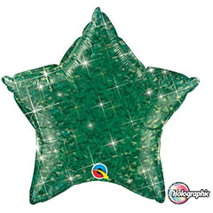 Globo Estrella holográfica verde