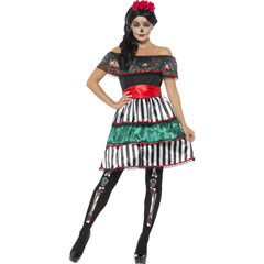 Disfraz muñeca mejicana Día de los Muertos