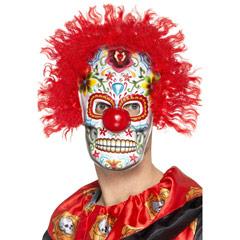 Careta Máscara payaso Día de los Muertos