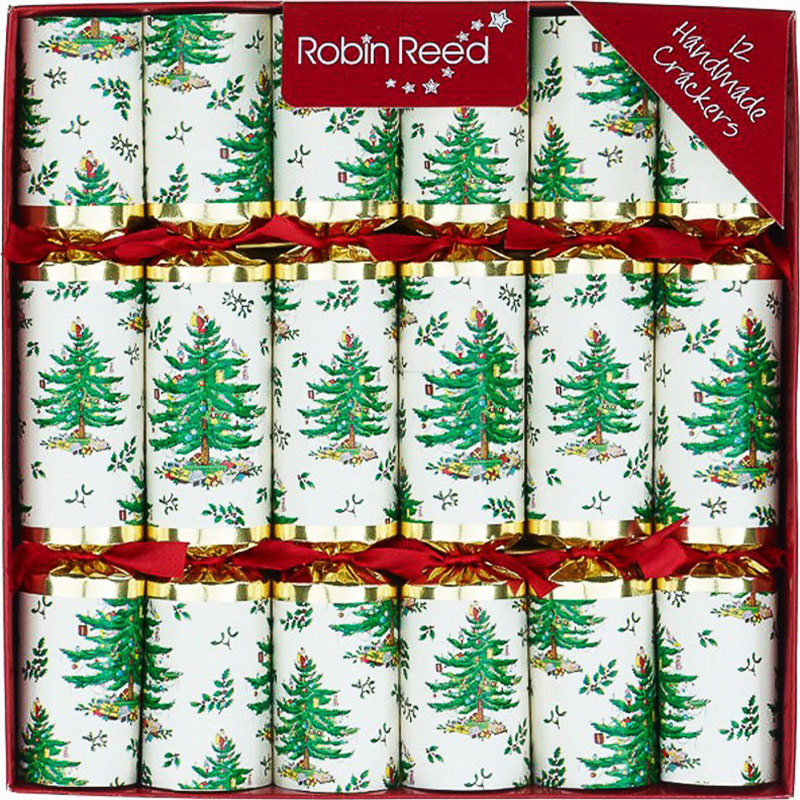 Yule Tree. Christmas Crackers. 25 cm, Pack 12 u.