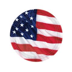 Pack 8 Platos bandera USA 17,80 cm