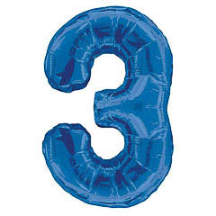 Globo Nº 3 con forma azul