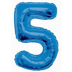 Globo Nº 5 con forma azul