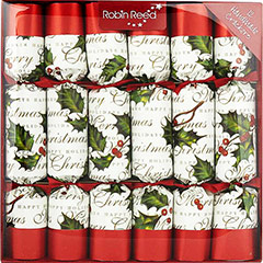 Bows & Berries. Christmas Crackers. 31 cm, Pack 12 u.
