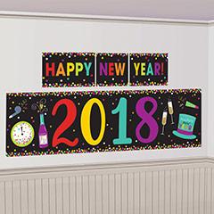 Fondo de Pared Nochevieja. Decoración Happy New Year 2018