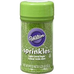 Azúcar de color verde para decorar Wilton, 92 gr.