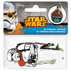 Cápsulas y decoración cupcakes Star Wars, Pack 24 u.