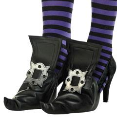 Cubre zapatos de bruja infantil