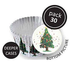 Cápsulas cupcakes Árbol de Navidad PME, Pack 30 u.
