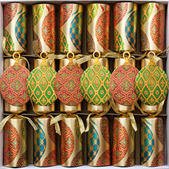 Imperial Ornaments Celebration. Christmas Crackers. 31 cm, Pack 6 u.
