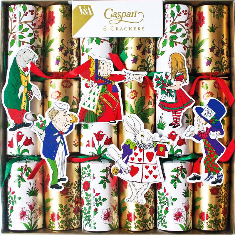Alice in a Winter Wonderland. Christmas Crackers. 31 cm, Pack 6 u.
