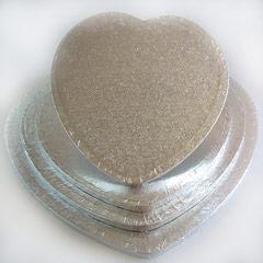 Base corazón para tartas en color plata