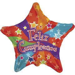 Globo Estrella Feliz cumpleaños