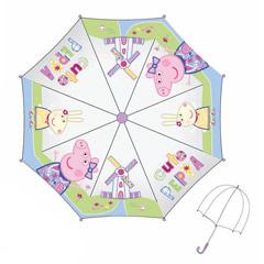 Paraguas infantil Peppa Pig transparente burbuja