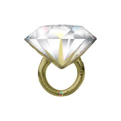Globo anillo con diamante