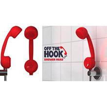 Alcachofa de ducha en forma de teléfono rojo - Ítem1